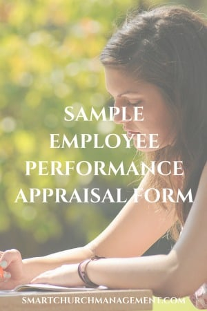 Example Employee Performance Appraisal Form