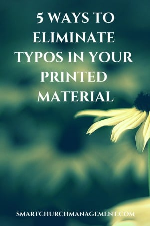 5 Ways to Eliminate Typos in Your Printed Material