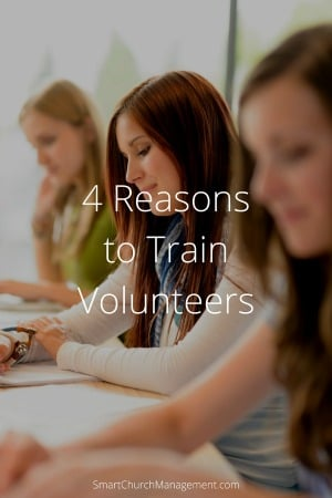 Training and developing people is one of the most important responsibilities managers have, and training volunteers is no different.