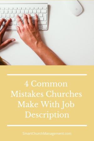 church employee job descriptions