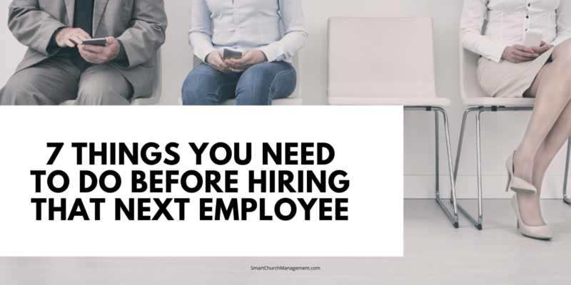 what do I need to do before hiring an employee?